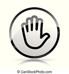 hand icon on white background