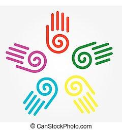 illustration of hand prints