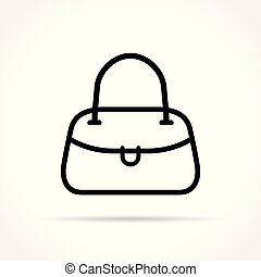 handbag icon on white background