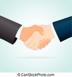 handshake concept between two businessmen - Illustration of...