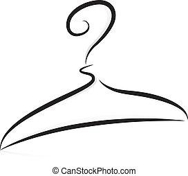 Hanger in Black and White - Illustration of Hanger in Black...