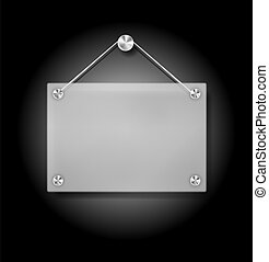 Plexi Signboard - Illustration of Hanging Transparent Plexi ...