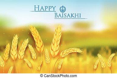 Happy Baisakhi - illustration of Happy Baisakhi background...