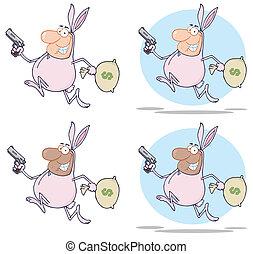 Bandits Running With Rabbit Costume