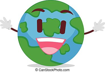 Happy Earth Mascot