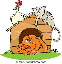 Happy farm animals - Illustration of Happy farm animals