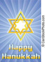 happy hanukkah with star of david
