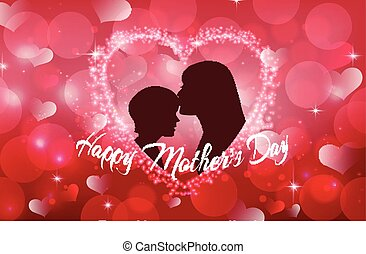 Happy Mother's Day with Silhouette