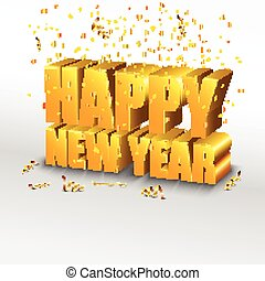 Happy New Year. Concept 3d
