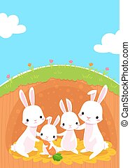 rabbits family