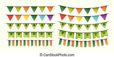 Happy St. Patrick's day party card with bunting