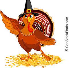 Thanksgiving Turkey presenting - Illustration of Happy ...