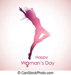 Happy Woman's Day - illustration of Happy Woman's Day...