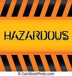 hazardous icon - illustration of hazardous icon