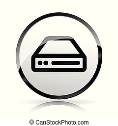 hdd icon on white background