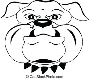 head dog cartoon