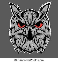 Illustration of head owl