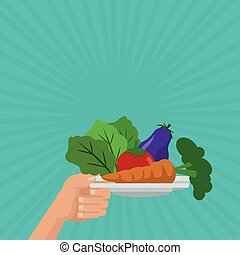 Illustration of healthy food, vector design, food and nutrition related