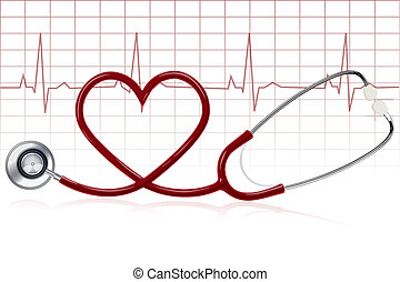 healthy heart - illustration of healthy heart with...