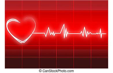 heart beats - illustration of heart beats