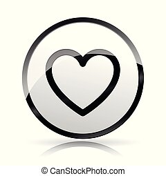 heart icon on white background