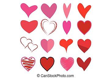 Illustration of heart models for Valentine's Day