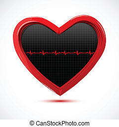 heart with cardiology
