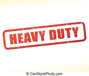 heavy duty text buffered - Illustration of heavy duty text ...