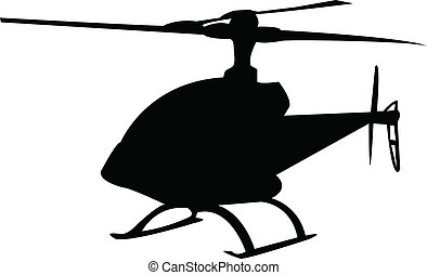 helicopter - Illustration of helicopter silhouette - vector