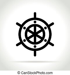 helm icon on white background