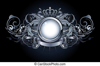 heraldic frame - illustration of heraldic frame or badge...