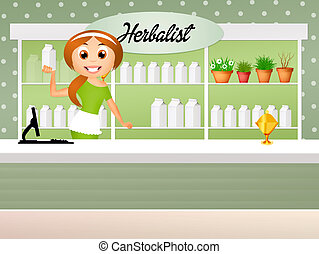 illustration of herbalist