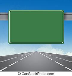 highway sign - illustration of highway sign