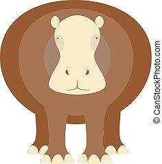 Illustration of hippopotamus.