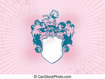 Illustration of historical shield.