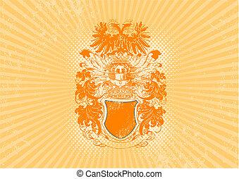 Illustration of historical shield. Vector
