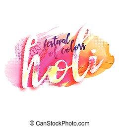 illustration of holi festival design poster
