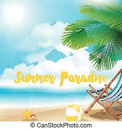 Holiday on beach summer