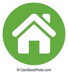 home green circle icon