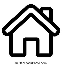 home icon on white background