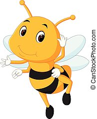 honey bee on a white background