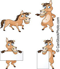 horse cartoon collection