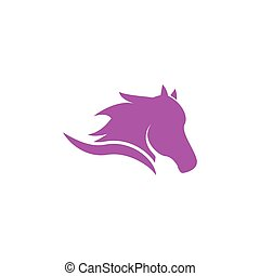 Illustration of horse head logo icon template