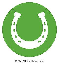 horseshoe green circle icon