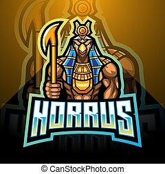 Horus esport mascot logo design