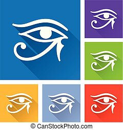 horus eye icons with long shadow