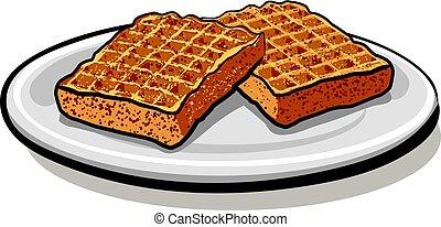 baked homemade waffles