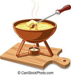 hot cheese fondue