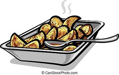 hot roasted potatoes