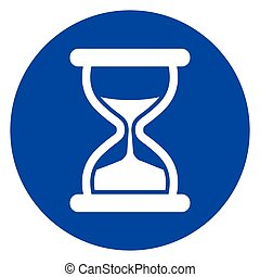 hourglass blue circle icon